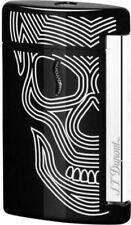 S.T. Dupont MiniJet Torch Flame Lighter, Black With Skull ST010511, New In Box