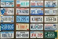 Large lot of 20 old colorful license plates - bulk - many states - low shipping