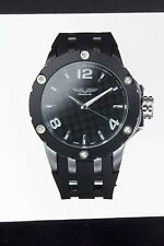 Silver Rotating Bezel Classy Large Watch New Deporte Ardmore 9851 Mens Black &
