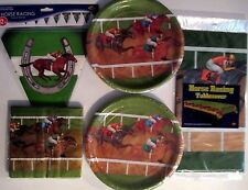 HORSE RACING - Birthday Party Supply Set Pack Kit w/ Flag Banner