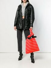 Alexander Wang⚡️SOLD OUT neon orange knit jacquard tote bag purse shopper