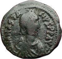 ANASTASIUS Authentic Ancient Constantinople Half Follis Byzantine Coin i71045