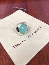 David Yurman 17mm Aqua Chalcedony Albion Ring