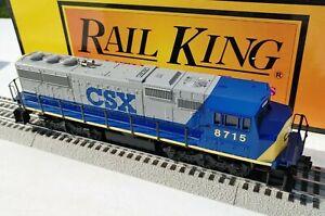 RAIL KING 30-2116-1 C.S.X. SD60M DIESEL #8715 WITH PROTO-SOUND 3-RAIL BY MTH NIB