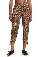Onzie High Rise Midi Legging NWT Large Yoga Pants Leopard Print Drawstring Hem