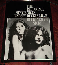 Vintage 1973 BUCKINGHAM NICKS Polydor Poster (Stevie, Lindsey of Fleetwood Mac)