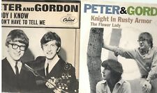 """Peter and Gordon, You Don't Have To Tell Me b/w The Flower Lady; Two 7"""" 45s"""