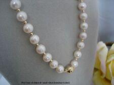 Collier 50cm aus echten Perlen 10mm! 14Kt. / 585er Goldverschluss ! TOP Angebot