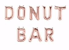 """DONUT BAR Letter Balloons - 16"""" Rose Gold - Sweet Treats Sign - Donuts - US SHIP"""