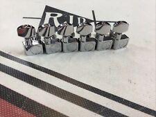 Fender Logo Chrome Tuners Tuning Machines Keys Peg Heads Ping