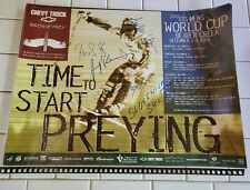 """Poster DOWNHILL SKIING WORLD CUP RACE """"BIRDS OF PREY"""" 2003  Signed"""