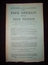 Le Pays lorrain et le Pays messin - N°3 1912