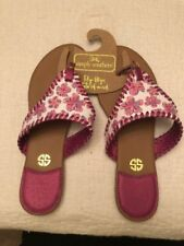 c6564cb4ad1a NEW Simply Southern Floral Casual Flip Flops Size 10