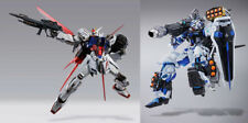 Gundam Seed: Astray Blue Frame Full Weapon & Strike Gundam Metal Build Figure
