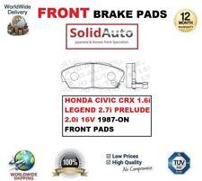 FOR HONDA CIVIC CRX 1.6i LEGEND 2.7i PRELUDE 2.0i 16V 1987-ON FRONT BRAKE PADS
