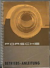 PORSCHE 356 B Manuale di istruzioni 1960 MANUALE MANUALE bordo libro BA