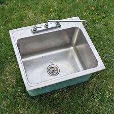 "Elkay Lustertone 25"" x 22"" Drop-In Single Basin Stainless 3 Hole Sink"