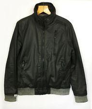 Men's Super Dry Moody Norse Padded Bomber Jacket - Black & Grey - Large (JK64)