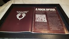 Jesus Christ Superstar Soundtrack Rare Original Promo Poster Ad Framed!
