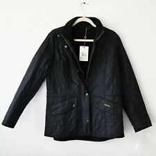 Women's BARBOUR Cavalry Polarquilt Jacket Quilted Black Fleece size UK 18 EUR 44