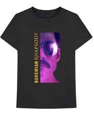 Queen-Freddie Mercury-Face-Bohemian Rhapsody-XXL Black T-shirt