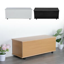 Ottoman Toy Box Chest Wooden Storage Blanket lid White Black or Beech UK