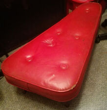 Vintage Triangle Crawford Red Ottoman Foot Stool Bench