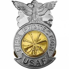 USAF Air Force Badge Deputy  Fire Chief Regulation Size (Made in USA)