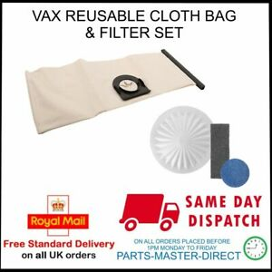 REUSABLE CLOTH BAG & FILTERS FITS VAX 3-IN-1 TANK CANNISTER MODELS 6131 6000 ETC