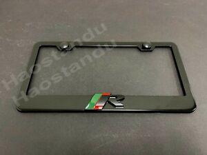 1x Black R-SPORT LOGO 3D Emblem BLACK Stainless License Plate Frame RUST FREE