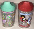 2 Vtg Cherubs Playtex Sippy Cups Toddler SIp Cups Undersea Dress Up