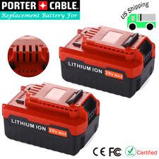 2 Pack PCC680L For 20Volt PORTER-CABLE 4.0Ah Lithium Ion Battery PCC682L PCC685L