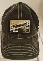 New Orleans Saints NFL Super Bowl XLIV 44 Champions Reebok Flexfit Cap Distress