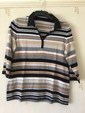 Gerry Weber Striped Shirt Top Size 44
