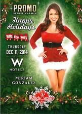 Miriam Gonzalez 8 2014 Bench Warmer Toys For Tots Promo