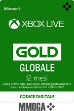 Xbox Live Gold Abbonamento 12 Mesi - 1 anno Microsoft Xbox One & 360 - Globale