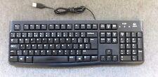 LOGITECH y-u0009 820-004515 business USB cablato QWERTY UK Nero Tastiera K120
