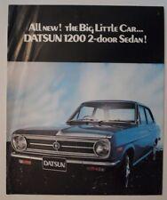 DATSUN 1200 2 DOOR SALOON orig 1971 UK Mkt Sales Leaflet Brochure