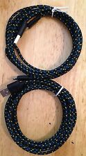 2X 3M 10FT Nylon BLACK Braided MicroUSB Chargers * HTC SAMSUNG ANDROID LG GOOGLE