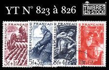 Timbres France YT N°823 à N°826 Série des métiers !!!