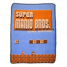 New Nintendo Super Mario Bros Plush Fleece Gift Throw Blanket NES Video Game NIP