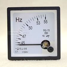 45-55 Hz 220V Analog Panel Frequency Meter Hertz Indicator for System Monitoring