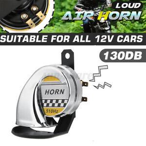 Universal Car Motorcycle 130DB Snail Air Horn Siren Loud Waterproof 12V Silver