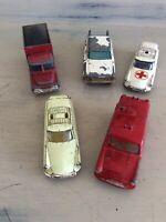 Bundle of 5 Vintage Husky Diecast Vehicles Ambulance Cars Truck