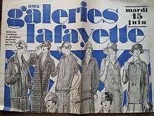 FEUILLET PUBLICITAIRE GEANT DES GALERIES LAFAYETTES 1926 SOLDES D'ETE