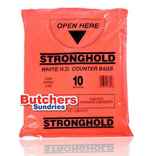 1000 x Butchers-Sundries Poli Polietileno Plástico Uso Alimentario Mostrador