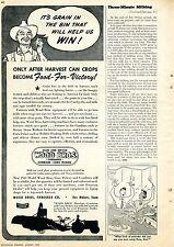 1943 Ferguson System Wood Bros. Combine Tractor Print Ad