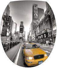 Sticker abattant de WC déco toilette New York Taxi 35x42cm Réf 339