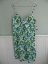 B Wear Too! (Byer California) Blue/Green Sundress NWT $50 - Size Juniors 13