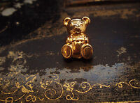 BUTLER & WILSON VINTAGE CUTE TINY GOLD TEDDY BROOCH, CLUTCH PIN